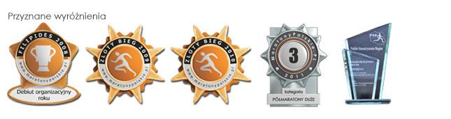 Odznaczenia i wyróżnienia Półmaratonu Ślężańskiego